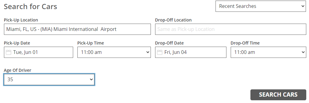 choose Search flights